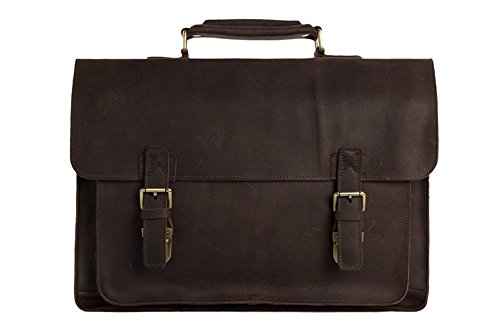 15 vintage genuine leather briefcase
