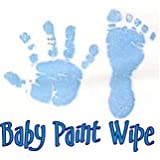 baby hand print footprint paint wipe kit pink