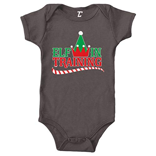 (Elf in Training - North Pole Elves Bodysuit (Charcoal, Newborn))