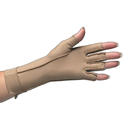 Isotoner Therapeutic Glove, Open Finger Compression Glove, 23-32 mmHg, Left, Large