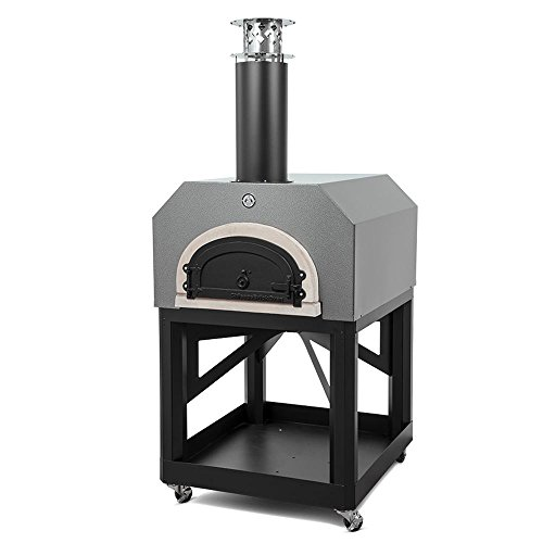 CBO-750 Mobile Wood Burning Pizza Oven by Chicago Brick Oven (Silver) by Chicago Brick Oven