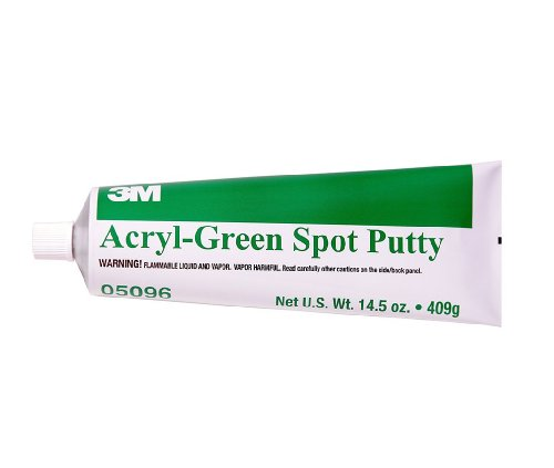 3M 05096 Acryl-Green Spot Putty Tube - 14.5 oz. (Transport Green Acrylic)