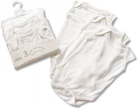 Nursery Time 3 Pack Teddy Bear Short Sleeved Baby Vests