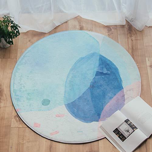 Amazon.com: Rug Pads Home Décor/Area Rugs, Runners & Pads Alfombra de piso estera Redonda moderna sala de Estar abstracta mesa de café Manta Junto a la cama ...