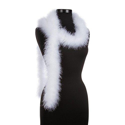 - White 25 Gram Marabou Feather Boas