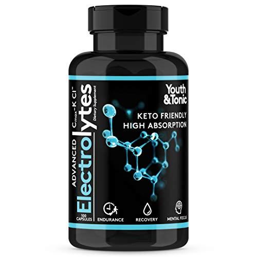 Complete Electrolyte Supplement Pills High Absorption | Cmax Potassium Chloride Magnesium Sodium Calcium Zinc | Boost…