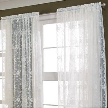office curtains. shari lace rodpocket curtain panel 56u0026quotw x 84u0026quot l home office curtains