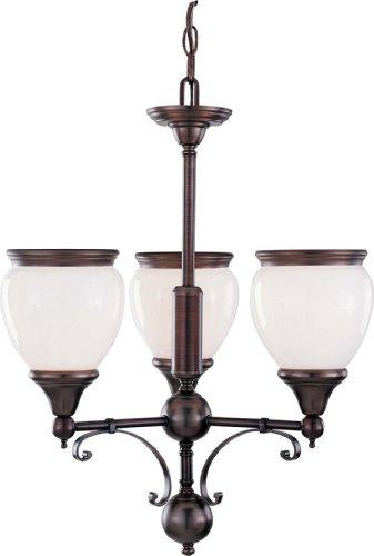 - Volume Lighting V4683-27 Hyde Park 3-Light Florence Bronze Chandelier, 19