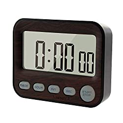 KingL Interval Timer Stopwatch for Workout, Cooking, Sports, Travel, Camping - Mini Digital Alarm Clock for Bedrooms ...