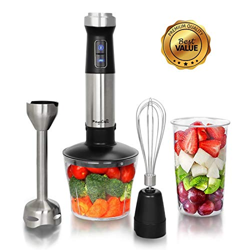 MegaChef MC-158C 4 in 1 Multipurpose Immersion Hand Blender with Speed Control and Accessories, 4in1, Silver Review