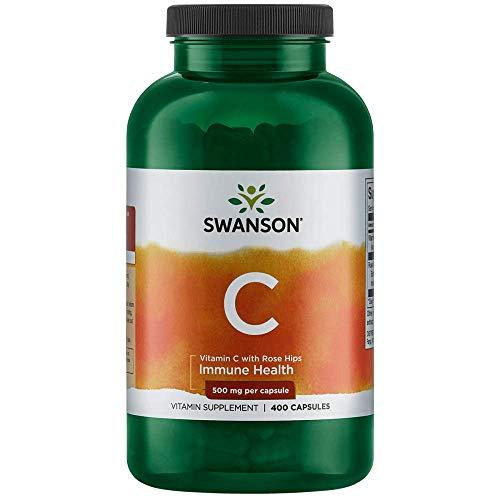 Swanson Vitamin C with Rose Hips 500 Milligrams 400 Capsules