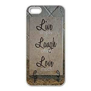 phone covers Personalized Unique Design Case for iPhone 5c, Live, love, laugh Cover Case - HL-5c07446