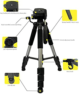 LQY Trípode Profesional para cámara réflex, el Soporte portátil ...