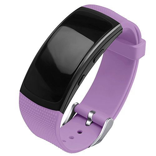 OenFoto Compatible Gear Fit2 Pro/Fit2 Band, Replacement Silicone Accessories Strap Samsung Gear Fit2 Pro SM-R365/Gear Fit2 SM-R360 Smartwatch- Light Purple