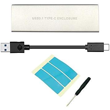 TOOGOO Usb3.1 Caja HDD Nvme Pcie Recinto HDD M.2 A USB Type C 3.1 ...