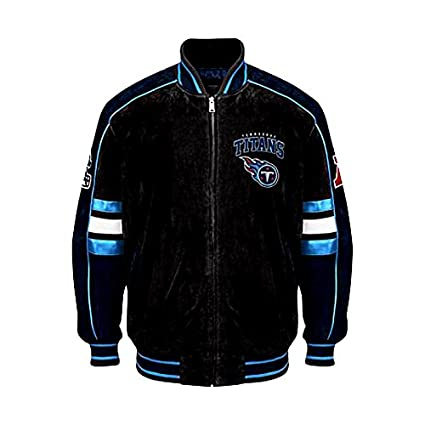 best cheap 599af cf00a Amazon.com : Tennessee Titans Suede Jacket Leather NFL ...