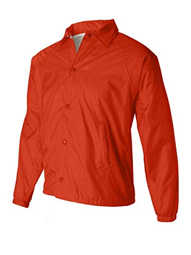 Augusta Sportswear Nylon Coach's Jacket/Lined, Orange, X-Large