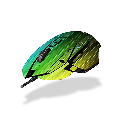 (MightySkins Skin for Logitech G502 Proteus Spectrum Gaming Mouse - Rainbow Streaks Protective, Durable, and Unique Vinyl Decal wrap Cover | Easy to Apply, Remove, and Change Styles | Made in The USA)