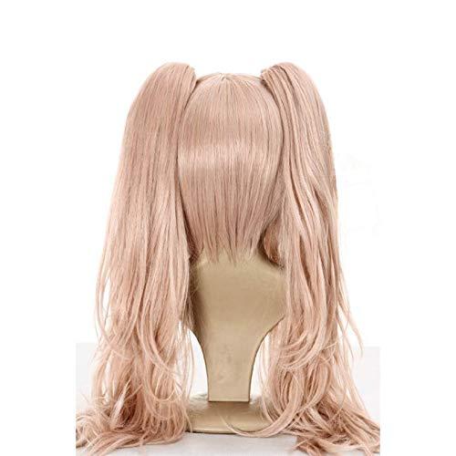 Anogol Hair Cap + Ponytail Wig Pink Cosplay Wig Lolita Wig - Import It All ad5f95064675