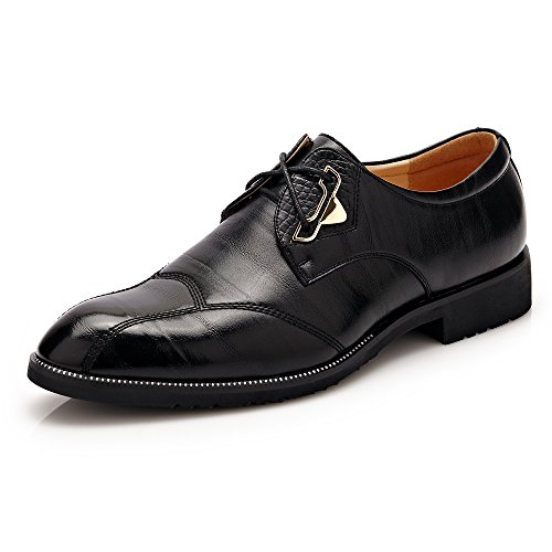 Dimensione da uomo in lacci stringate scuro Shoes EU Color uomo Scarpe di Scarpe da Oxford Marrone pelle con pelle BMD Nero e 38 U6Hc7zfyqc