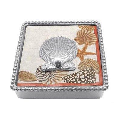 Mariposa Shell (Mariposa Scallop Shell Beaded Napkin Box)
