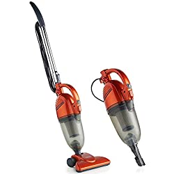 VonHaus 2 in 1 Corded Lightweight Stick Vacuum Cleaner and Handheld Vacuum Bagless with HEPA Filtration, Crevice Tool and Brush Accessories - Ideal for Hardwood Floors