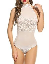 Avidlove Women Sexy Lingerie Teddy One Piece Chemises Lace Babydoll Bodysuit