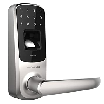 Cerradura inteligente ANVIZ Ultraloq. Huellas dactilares, teclado y Bluetooth Hasta 95 usuarios y APP móvil. Autónoma 3 x pilas AA.