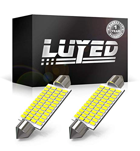LUYED 2 X 570 Lumens Super Bright 3014 48-EX Chipsets 569 578 211-2 212-2 LED Bulbs Used for Dome Light,Xenon White ()