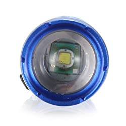 Mini Cree Led Flashlight Torch Zoomable Design (Blue) from Electronic
