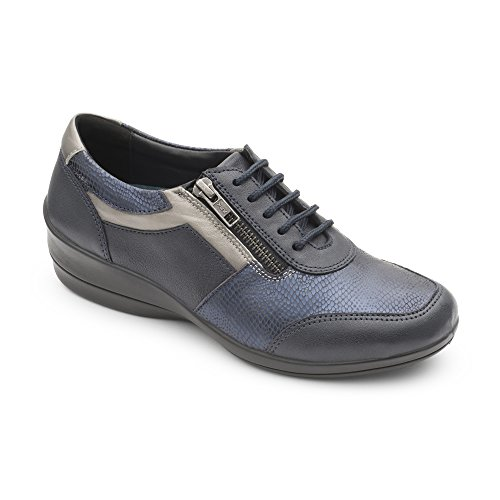 Padders Steffi 2 Womens Casual Multi Texture Wedge Shoes Navy