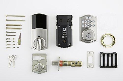 Kwikset SmartCode 914 Keypad Smart Lock (Amazon Key Edition – Amazon Cloud Cam required), Compatible with Alexa, featuring SmartKey in Satin Nickel by Kwikset (Image #8)