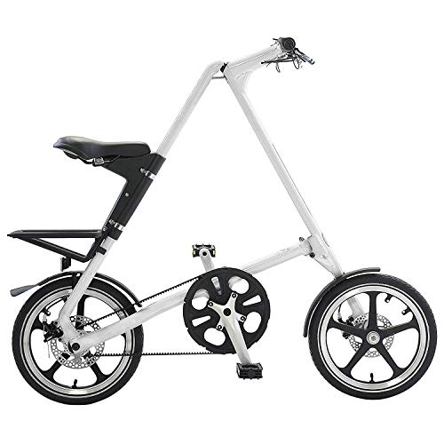 Happybuy Folding Bike Lightweight Folding Bikes for Adults Single Speed Foldable Bike for City Urban Travel (White) For Sale