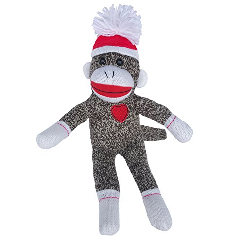 Sock Monkey Plush by ColorBoxCrate 12 Inch Classic