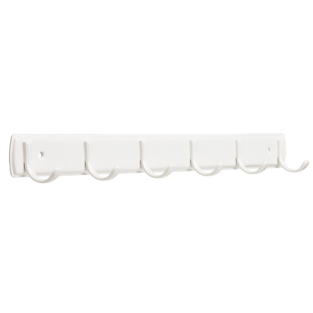 Franklin Brass FBSSMR6-W-R, 20'' Hook Rail / Rack, in White