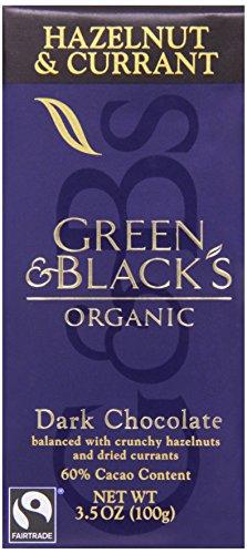 Green & Black's, Organic Bittersweet Dark Chocolate Bar, Currant and Hazelnut, 3.5 oz ()