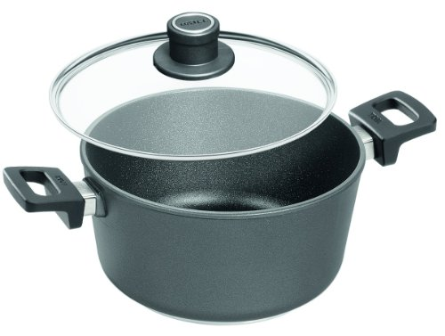 Woll Nowo Titanium Stockpot with Lid, 5.2 Quart, 9.5 Inch Diameter (Cookware Woll Usa)