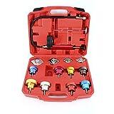 8milelake 14pc Radiator Pump Pressure Leak Tester Checker Kit Aluminum Adapters w/Case