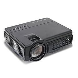 Mlison Video Projector 2000 Lumens Home Cinema Theater Multimedia Projector, Support 1080P HD + HD PC USB HDMI AV VGA