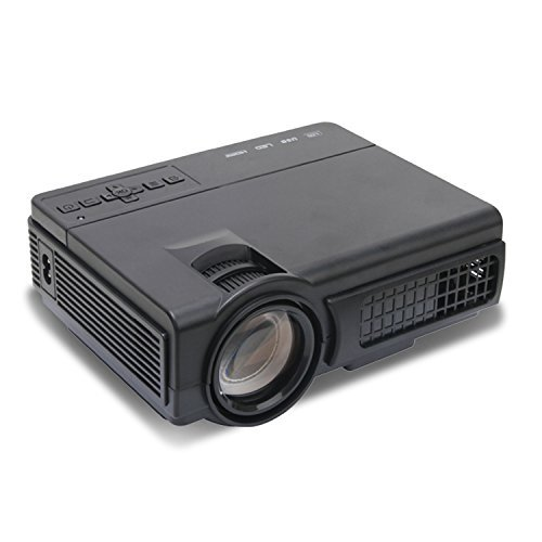 Mlison Video Projector 2000 Lumens Home Cinema Theater Multimedia Projector, Support 1080P HD + HD PC USB HDMI AV VGA (Home Theater 100 Projector)