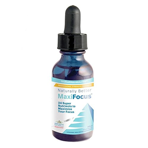 Cheap MaxiFocus 24 Super Nutrients to Maximize Your Focus (Eye Health Nutrition with 900% Better Absorption) Sublingual 60ml./2 Fluid Ounces