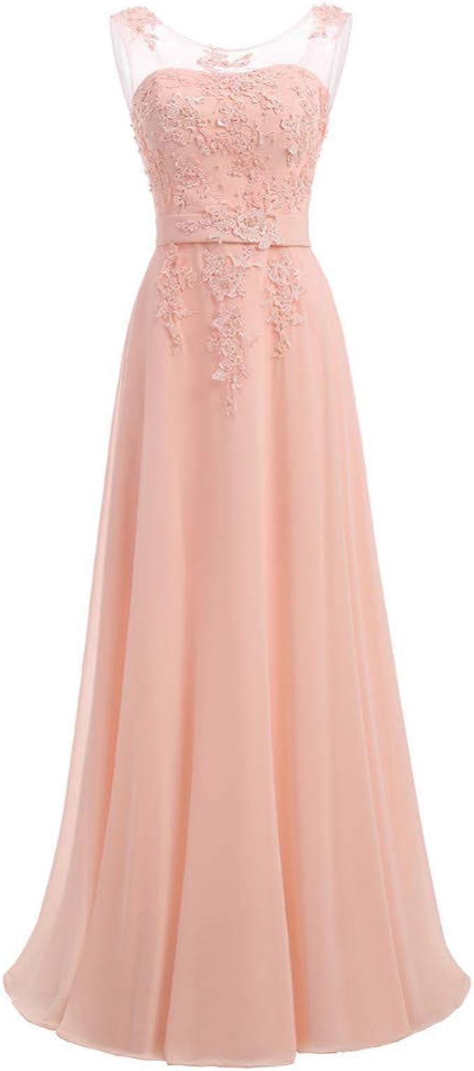 BINGQZ Damen/Elegant Kleid/Cocktailkleider Lavendel Chiffon Lange Einfach