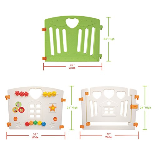 Baby Playpen Kids Activity Centre Safety Play Yard Home Indoor Outdoor New Pen (multicolour, Pudding set 8 panel) by Gupamiga (Image #7)