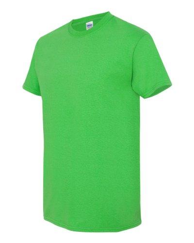 Gildan Heavy Cotton T Shirt  Electric Green  Medium
