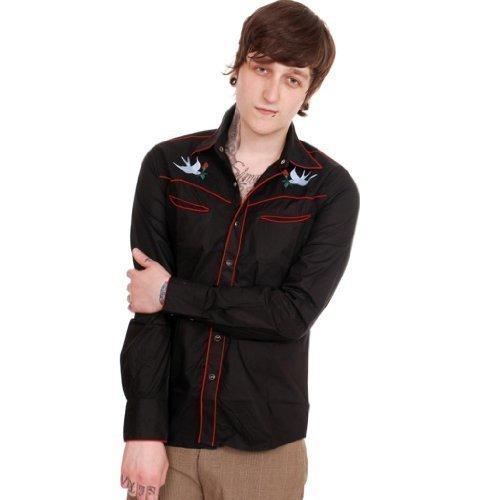 Jist-Mens-Rockabilly-Embroidered-Swallow-Shirt