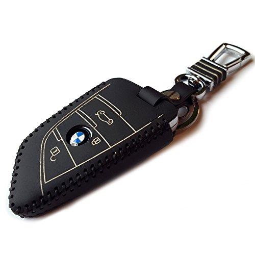 DOBREV DISTRIBUTION ® BMW Genuine Leather Remote Key Fob Case Protector Holder (Black) (Bmw X5 Leather Case compare prices)