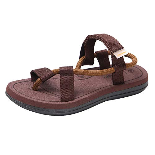 Wide Thong Beach Brown Sandals Comfort Flat Flip Flops Beach Flat Casual Men Slippers YnxUqBfOwI
