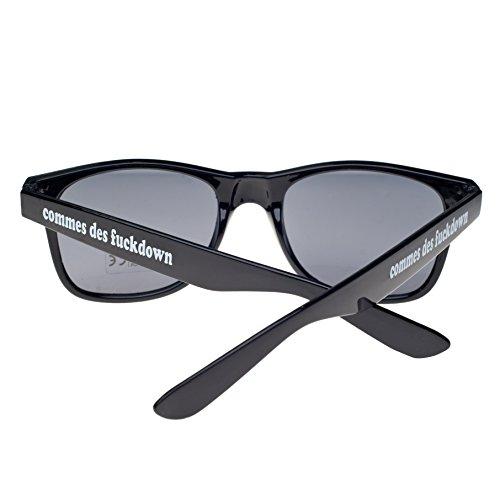 4sold con comme Gafas unisex Negro de ochentero sol negro diseño ahumados cristales TM sun IpRwI