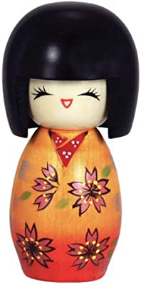 "Japanese 5.75/""H Kokeshi Wooden Doll Kawaii Usagi Rabbit Handcraft Made in Japan"