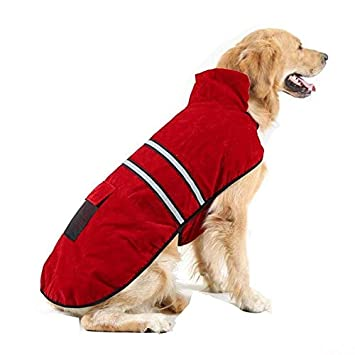 Liboom Abrigo para Mascotas Perros Chubasqueros Invierno Otoño Chaleco Caliente Abrigo Chaqueta Reflectante Resistente al Viento para Mascotas Perros XL ...